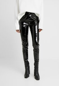 Topshop Tall - PIPER - Trousers - black - 0