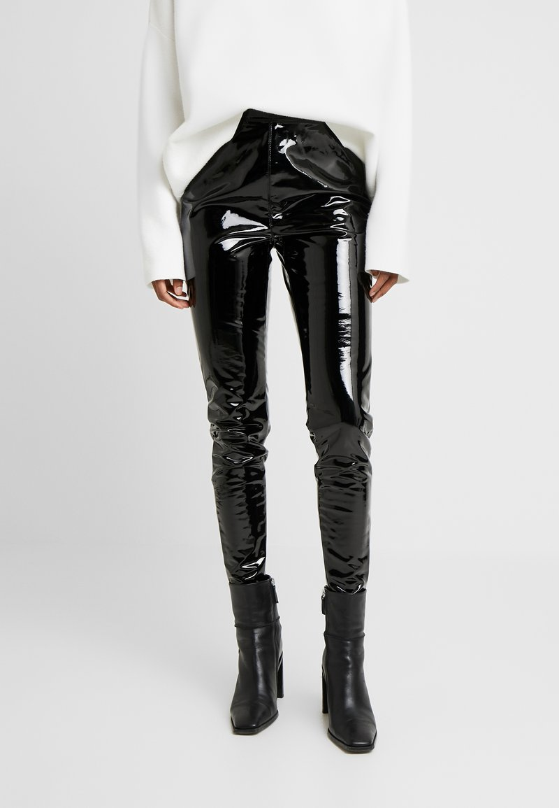 Topshop Tall - PIPER - Trousers - black