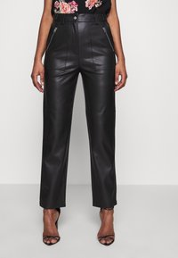 Topshop Tall - STRAIGHT - Trousers - black - 0