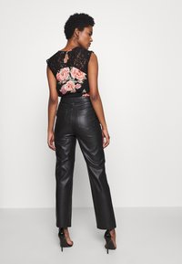 Topshop Tall - STRAIGHT - Trousers - black - 2