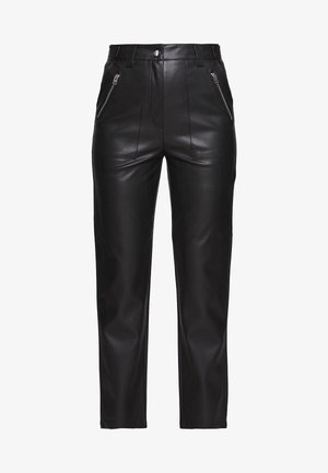 STRAIGHT - Trousers - black