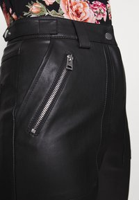 Topshop Tall - STRAIGHT - Trousers - black - 4