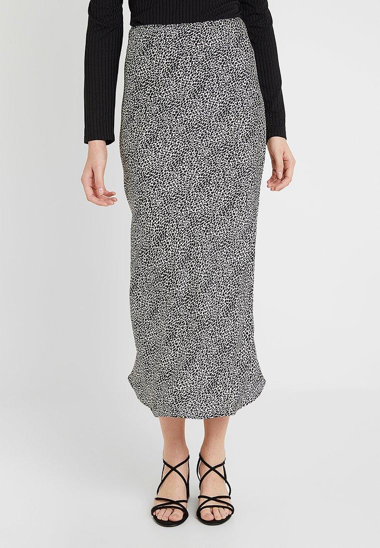 Topshop Tall - ANIMAL SPOT BIAS - Maxi skirt - mono