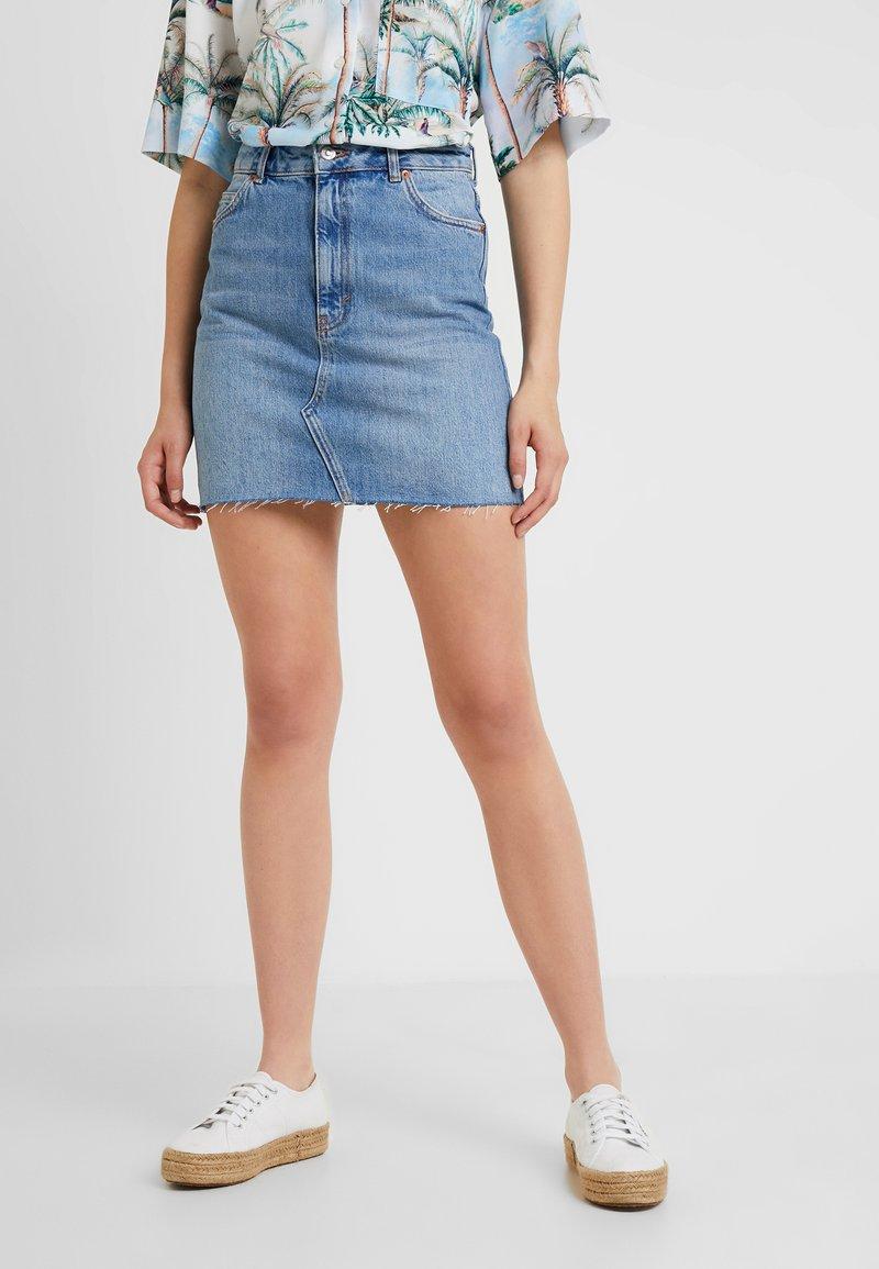 Topshop Tall - A-line skirt - blue