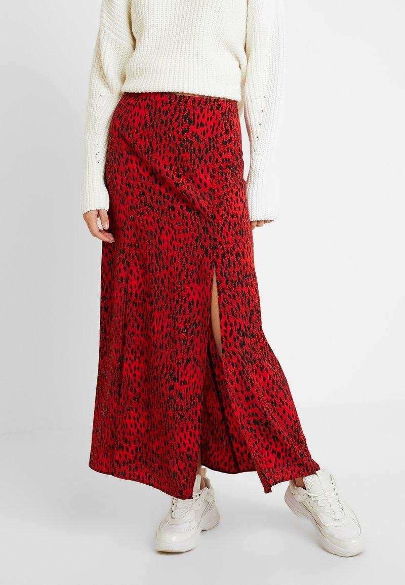 Topshop Tall - SPOT AUSTIN - A-line skirt - red