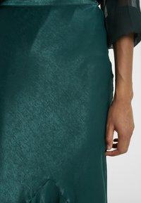 Topshop Tall - PLAIN FLOUNCE - Áčková sukně - dark green - 4
