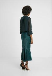 Topshop Tall - PLAIN FLOUNCE - Áčková sukně - dark green - 2