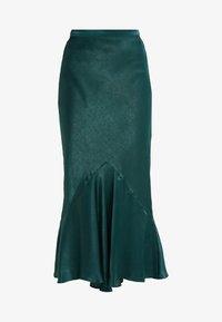 Topshop Tall - PLAIN FLOUNCE - Áčková sukně - dark green - 3