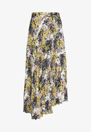 FLORAL CRYSTAL TIE PLEAT - A-line skirt - ivory