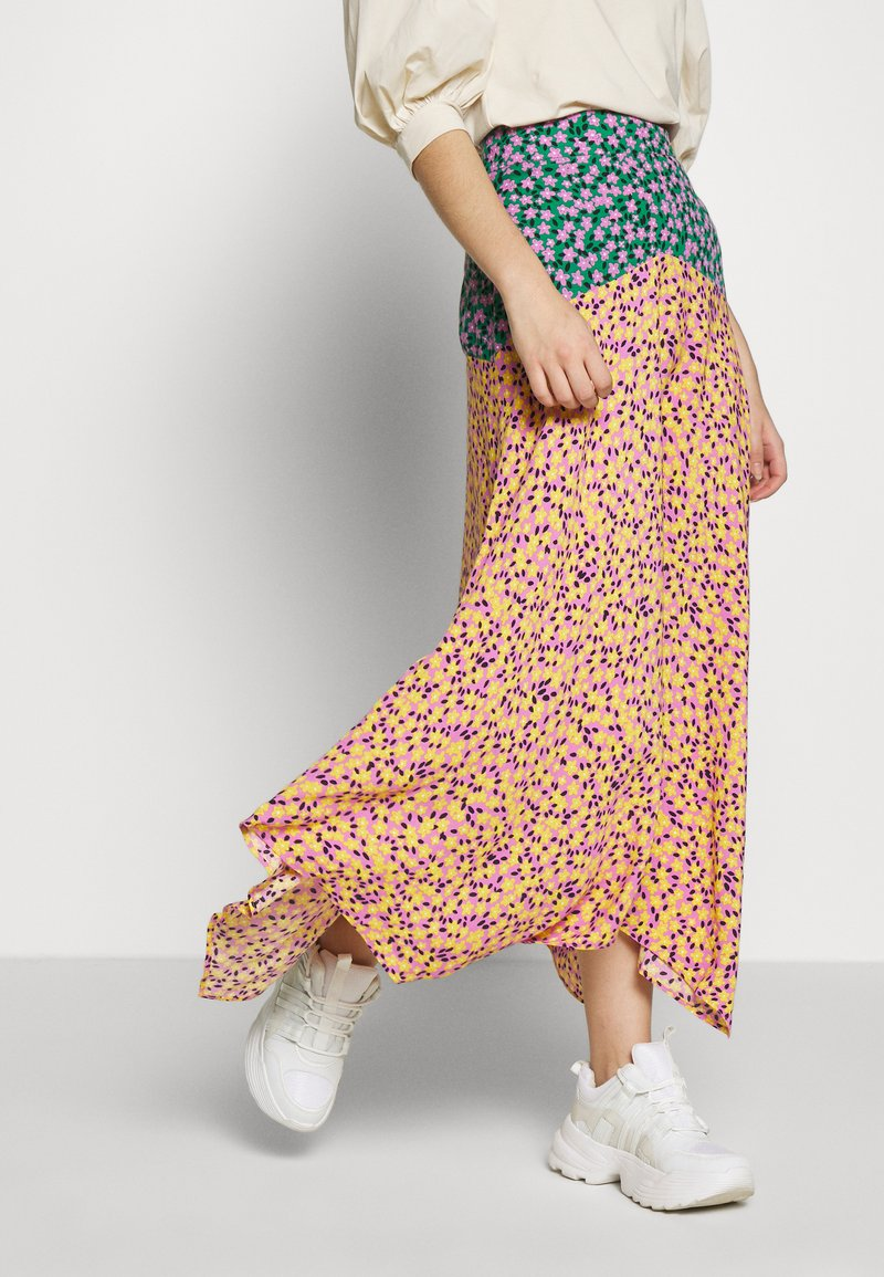 Topshop Tall - THRIFT MIXED FLORAL - Jupe longue - multi