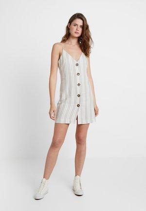 STRIPE MINI - Skjortklänning - stone