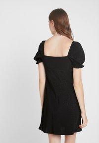 Topshop Tall - SQUARE NECK MINI - Denní šaty - black - 3