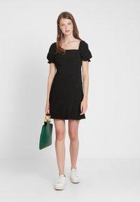 Topshop Tall - SQUARE NECK MINI - Denní šaty - black - 2