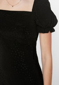Topshop Tall - SQUARE NECK MINI - Denní šaty - black - 6