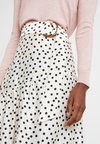 Topshop Tall - SPOT TIERED - Maxirock - cream