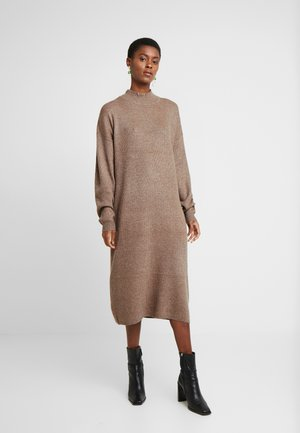 WOOL MIX DRESS - Jumper dress - mink