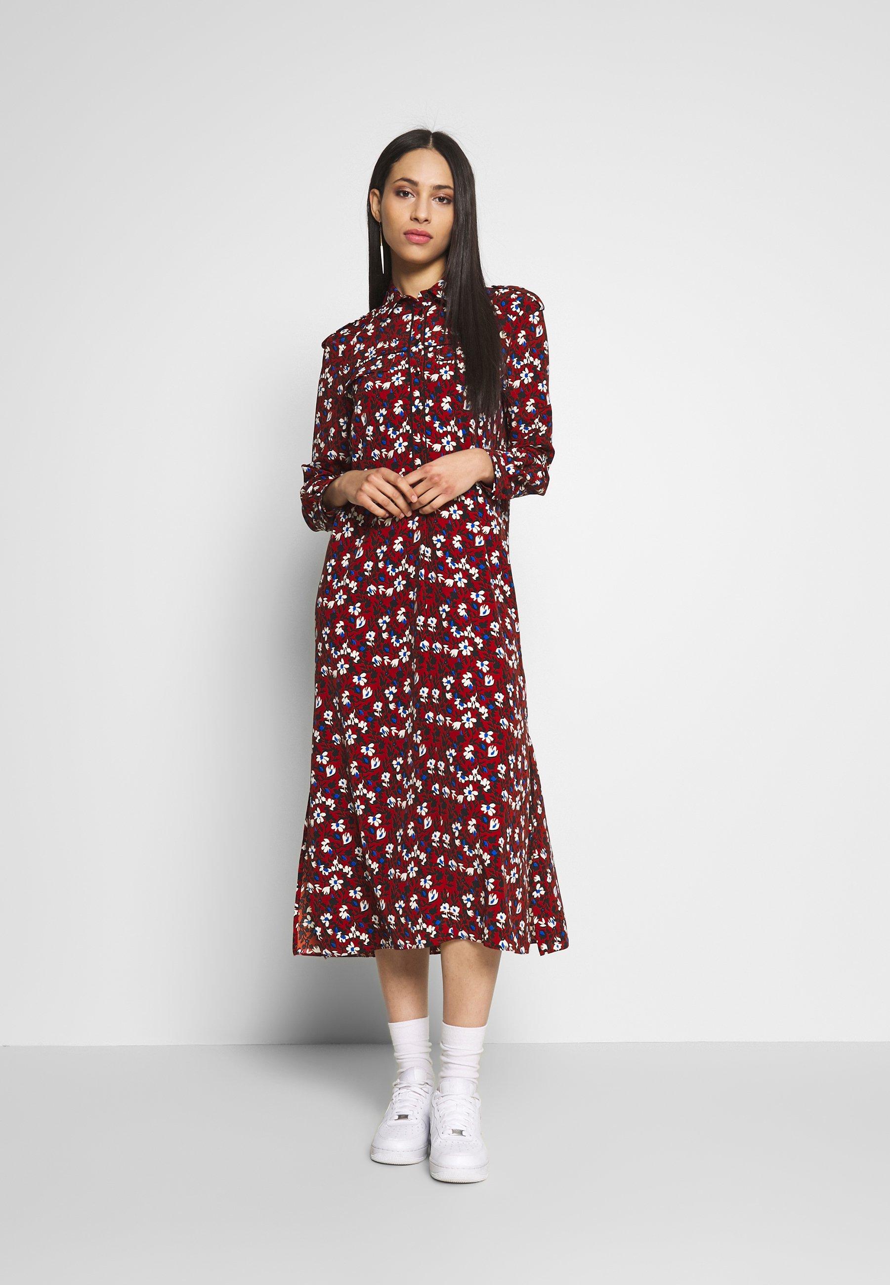 Topshop Tall TRAPEEZE - Długa sukienka - burgundy