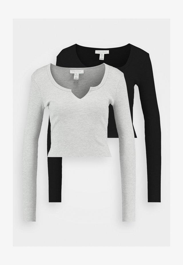 NOTCH 2 PACK - Pitkähihainen paita - black/light grey
