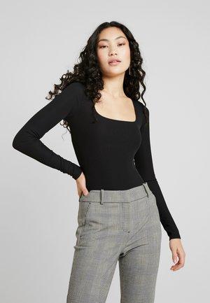 SQUARE NECK  - T-shirt à manches longues - black