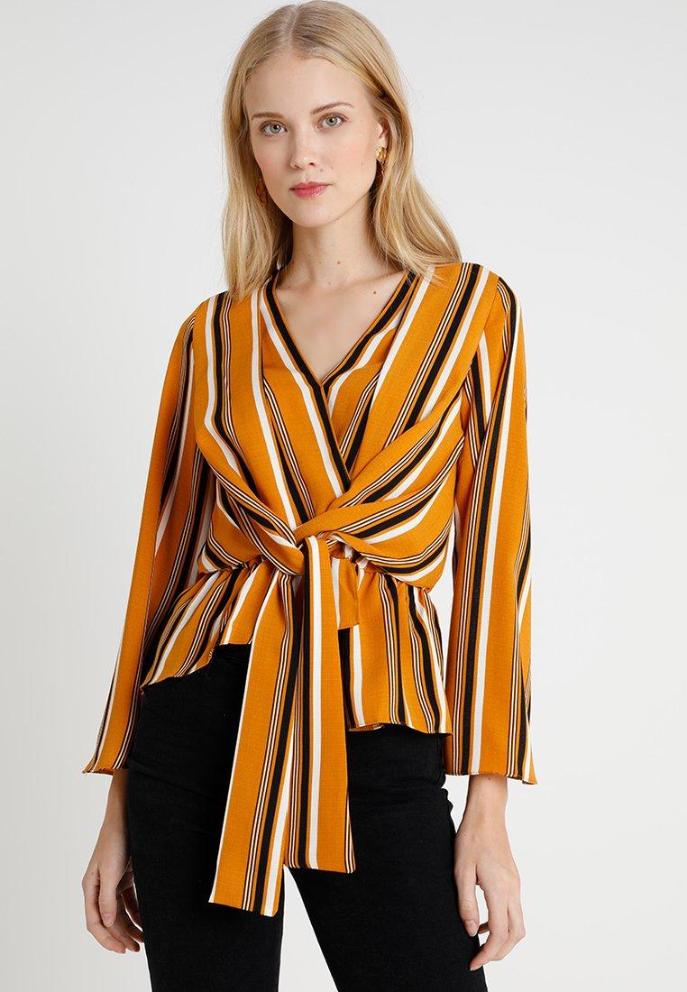 Topshop Tall - STRIPE TIFFANY - Blusa - orange