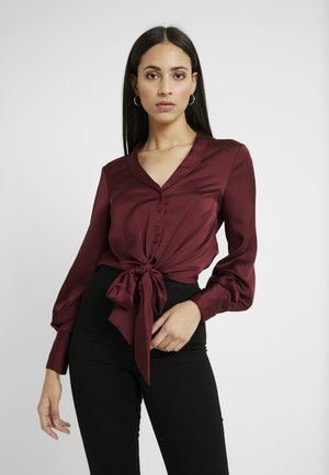 KNOT FRONT - Blus - burgundy
