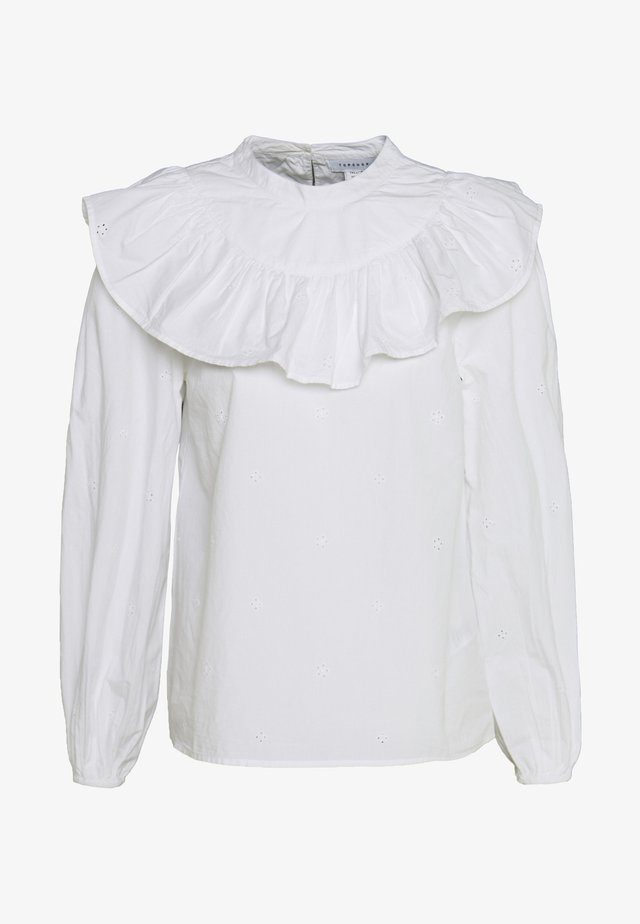 PINTUCK PLEAT - Blouse - ivory