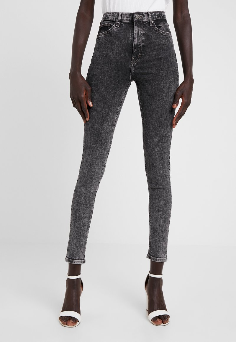 Topshop Tall - JAMIE - Jeans Skinny Fit - acid black