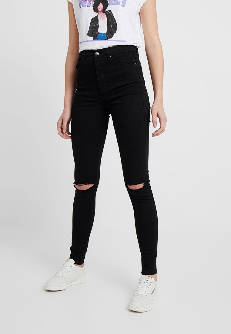 Topshop Tall - RIP JAMIE - Jeans Skinny Fit - black