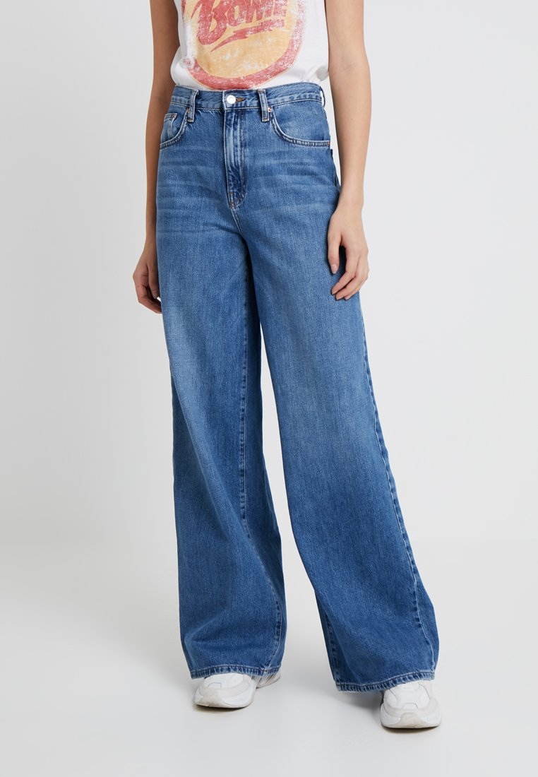 Topshop Tall - WIDE LEG - Jeans Relaxed Fit - blue