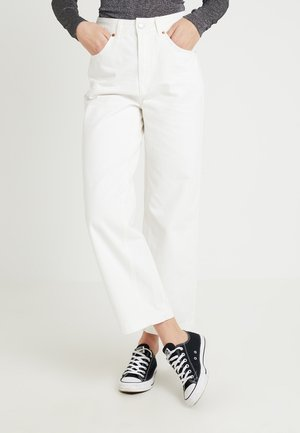 CROP - Jeans Relaxed Fit - white
