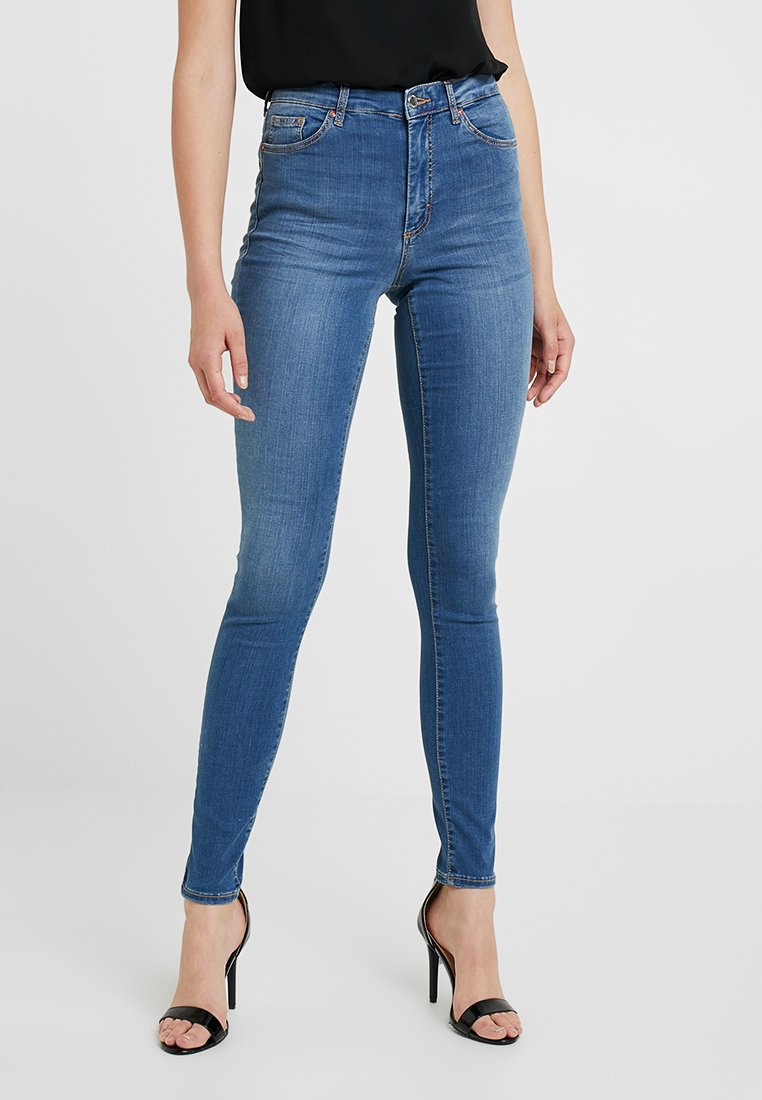 Topshop Tall - LEIGH - Jeans Skinny Fit - blue
