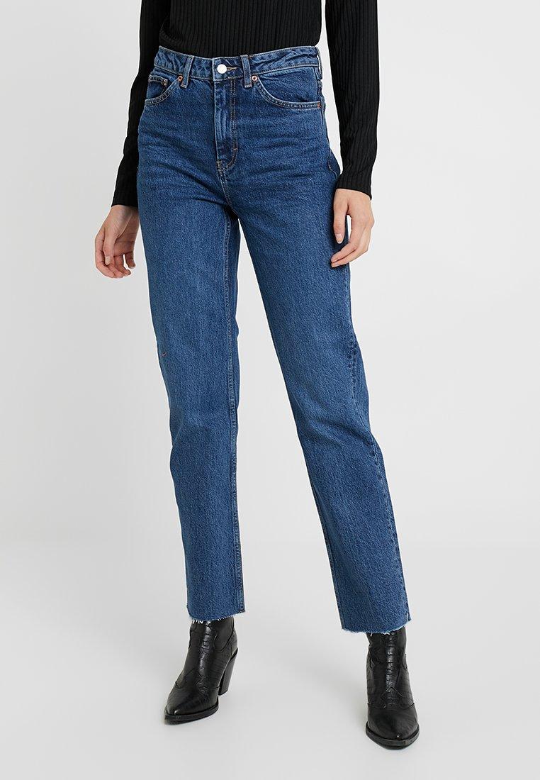 Topshop Tall - Straight leg jeans - blue denim