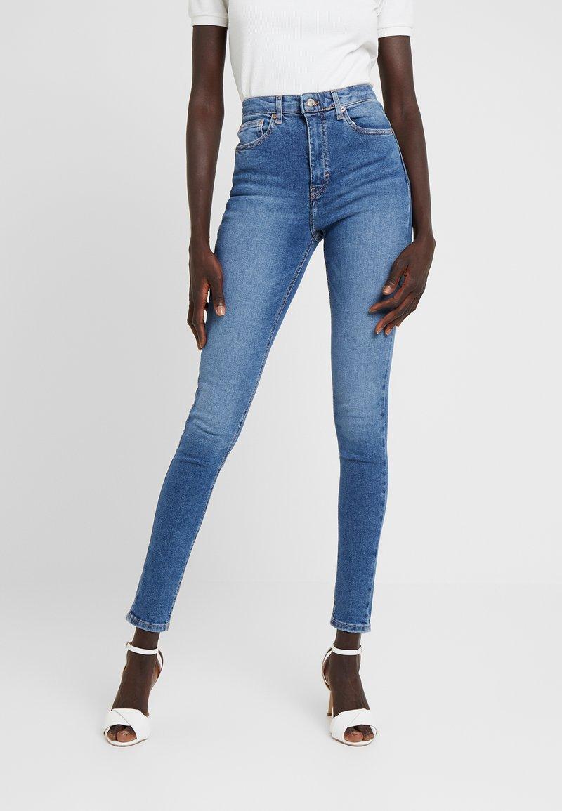 Topshop Tall - JAMIE - Jeans Skinny Fit - blue denim