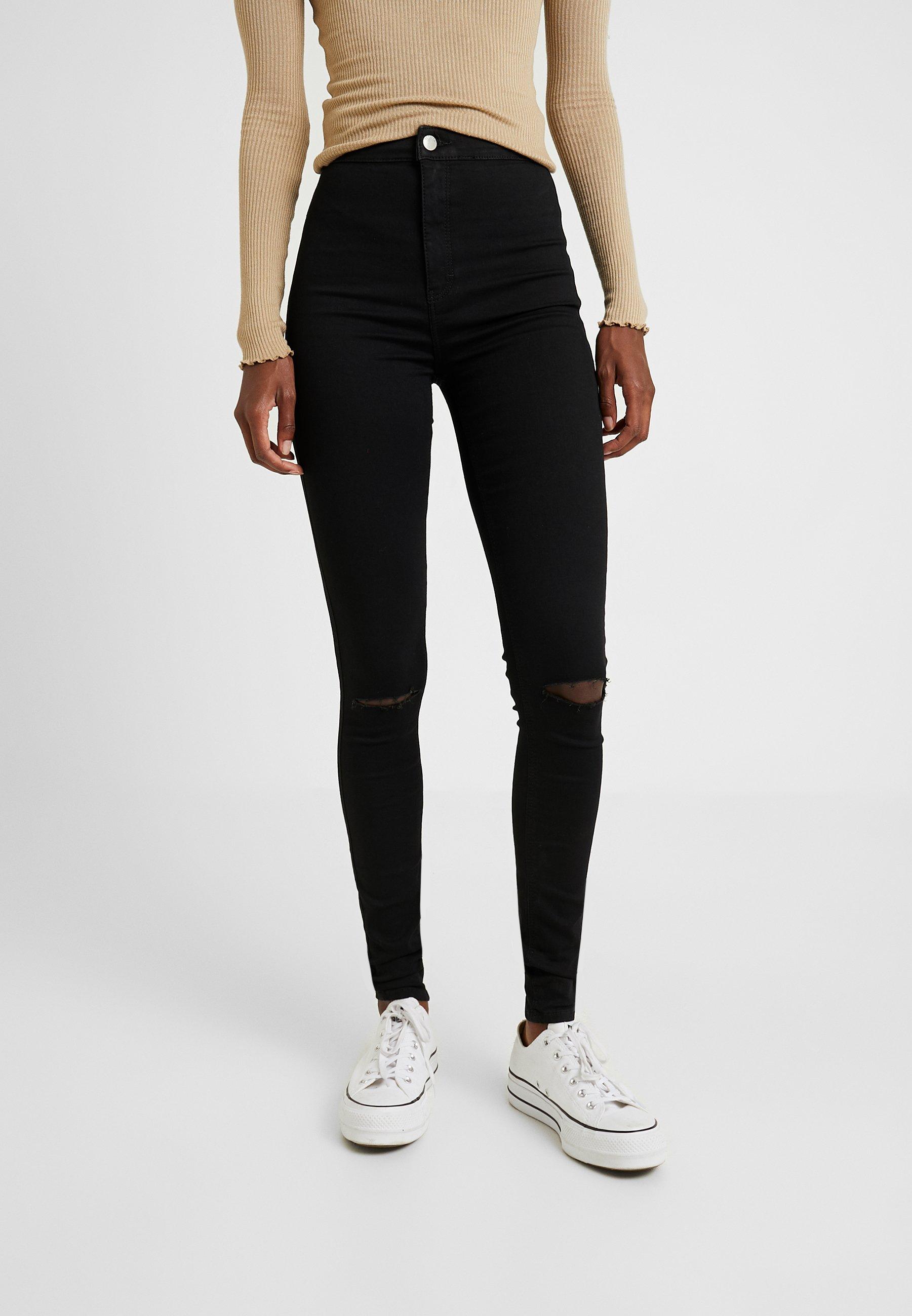 Topshop Tall JONI - Jeansy Skinny Fit - black