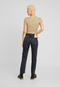 Topshop Tall - Straight leg jeans - washed black - 2