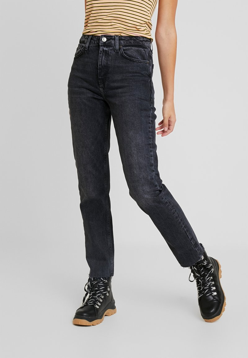 Topshop Tall - Straight leg jeans - washed black
