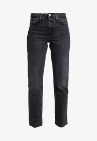 Topshop Tall - Straight leg jeans - washed black - 4