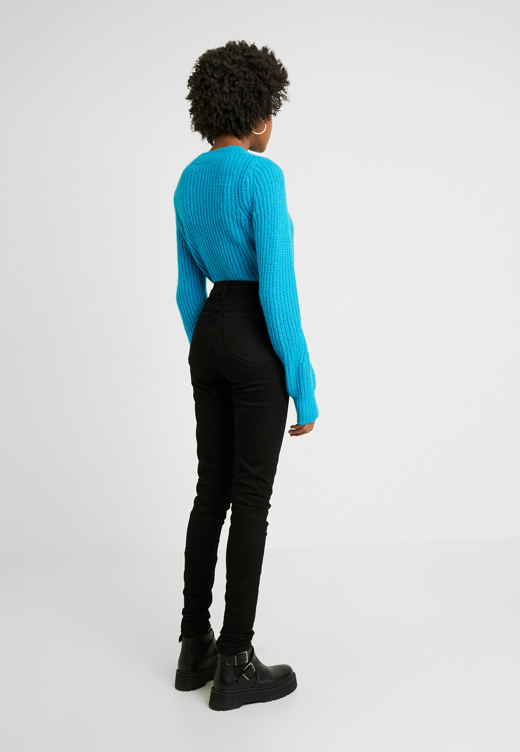 Topshop Tall PURE JAMIE CLEAN - Jeansy Skinny Fit - pure black