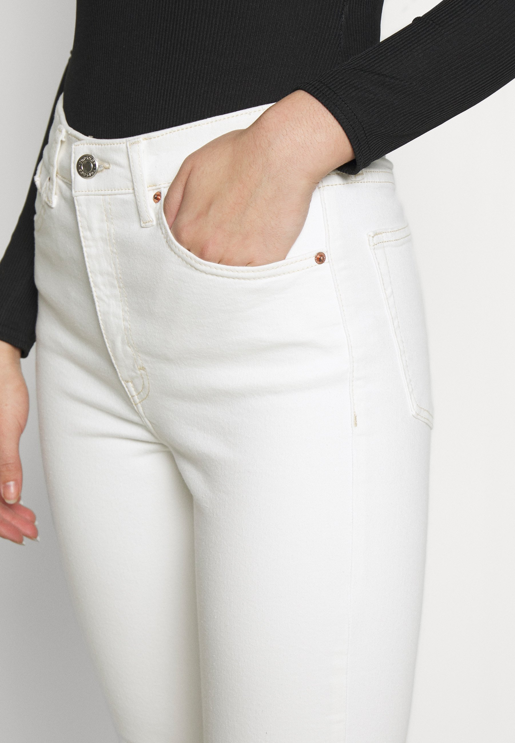 Topshop Tall JAMIE CLEAN - Jeansy Skinny Fit - white
