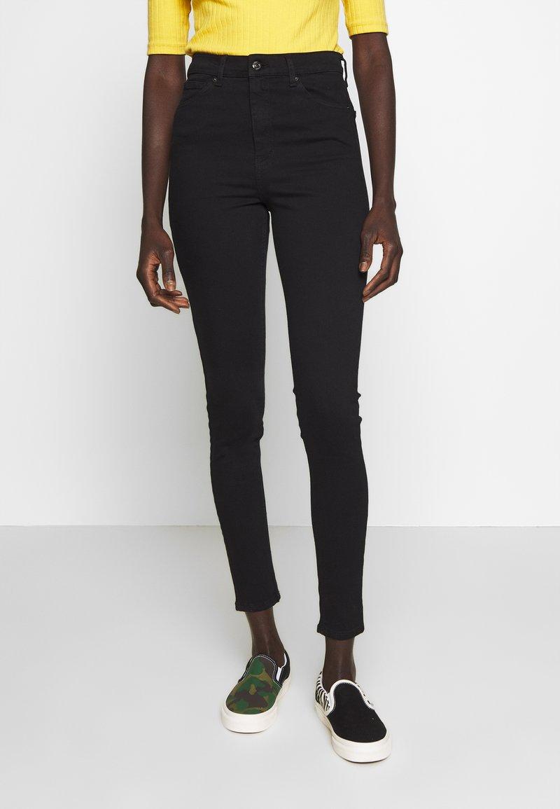 Topshop Tall - JAMIE CLEAN - Skinny džíny - black