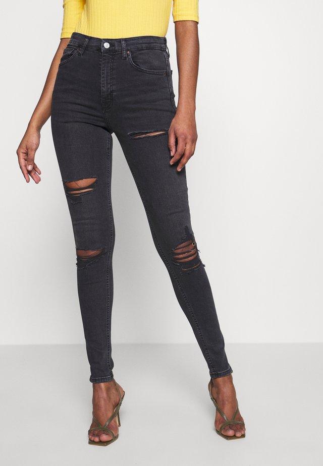 JAMIE SUPER - Jeansy Skinny Fit - washed black