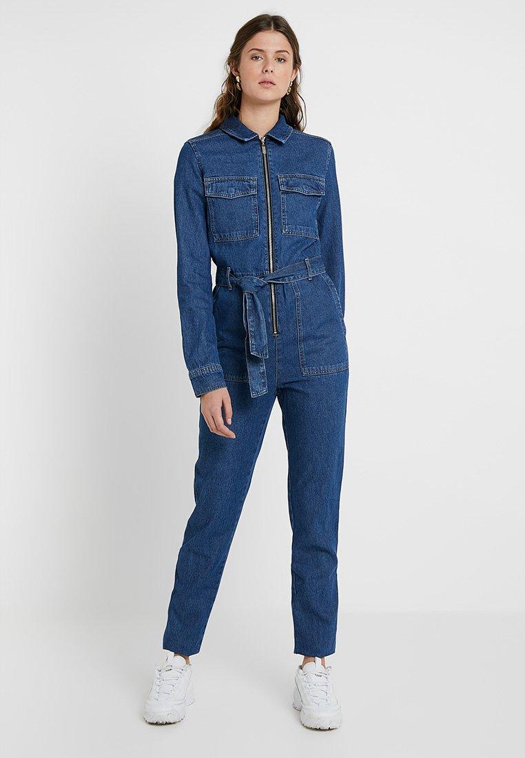 Topshop Tall - UTIL - Jumpsuit - blue