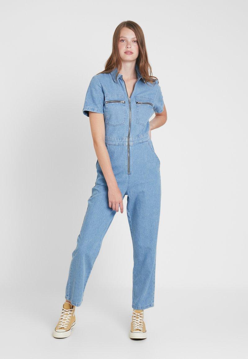 Topshop Tall - BOILER - Jumpsuit - blue denim