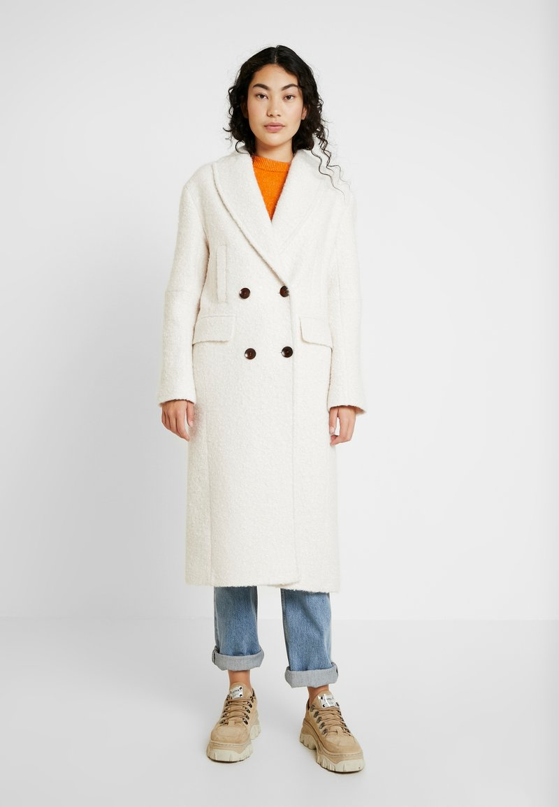 Topshop Tall - KIM BOUCLE - Classic coat - ivory