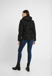 Topshop Tall - JACK HOOD PUFFER - Zimní bunda - black - 3
