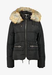 Topshop Tall - JACK HOOD PUFFER - Zimní bunda - black - 6