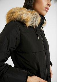 Topshop Tall - JACK HOOD PUFFER - Zimní bunda - black - 7