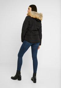 Topshop Tall - JACK HOOD PUFFER - Zimní bunda - black - 2