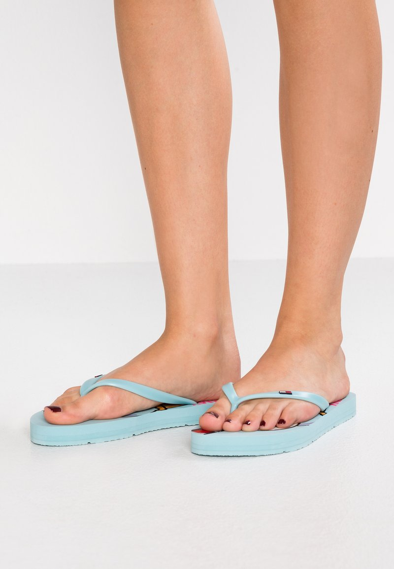 Tommy Jeans - ICE CREAM BEACH - Bade-Zehentrenner - blue