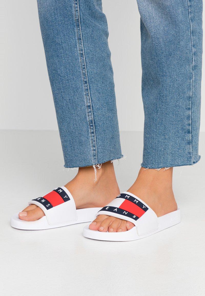 Tommy Jeans - BUBBLE - Muiltjes - white